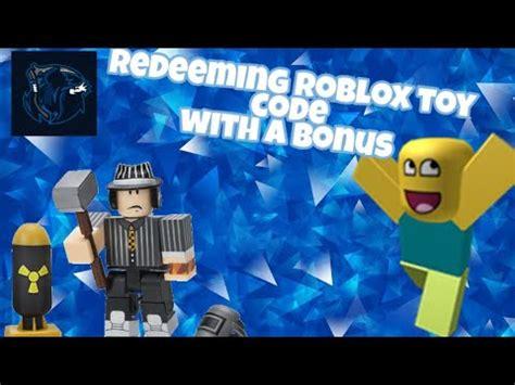 redeem  roblox toy code youtube