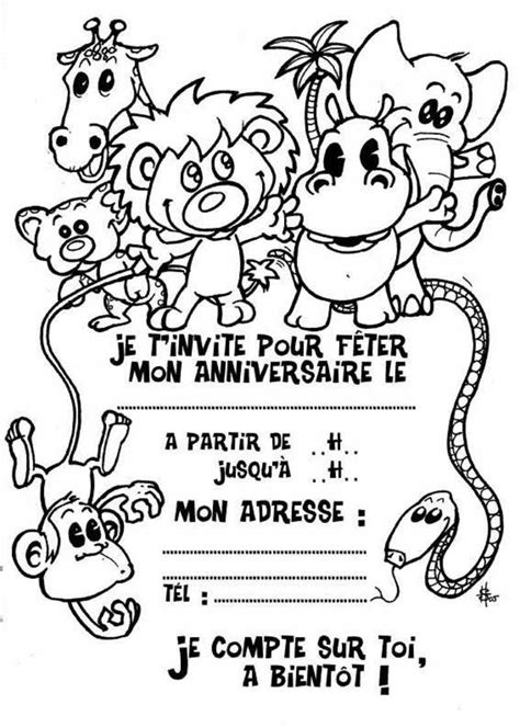 carte de mariage gratuite ã imprimer dessin ã colorier carte invitation anniversaire
