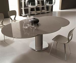 table salle a manger pied central maison design bahbecom With table salle a manger design pied central