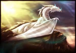 Beautiful White Dragon