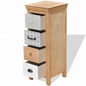 Armoire A Tiroir : acheter vidaxl armoire tiroir 35 x 35 x 90 cm bois ~ Edinachiropracticcenter.com Idées de Décoration