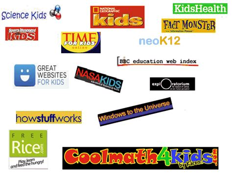 Kidzsearch Top Sites  The Best Educational Sites For School Kids And Children