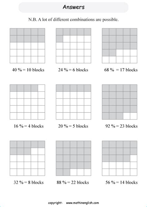 shade a given percentage out of a figure of 25 squares