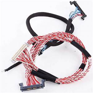 Custom High Quality Wire Harness  40 Pin Lvds Cable For Display Screen