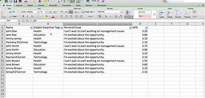 Filtering Excel Interface Python Table Example Narrow