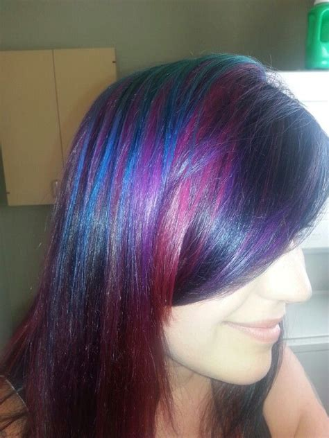 Colors That Go With Hair by New Goldwell Turquoise Copper Violet And Violet Hair