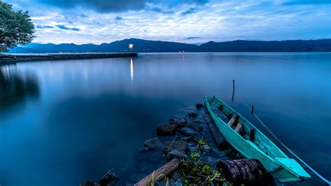 Nature, Lake, Sumatra, Boat Wallpapers Hd  Desktop And