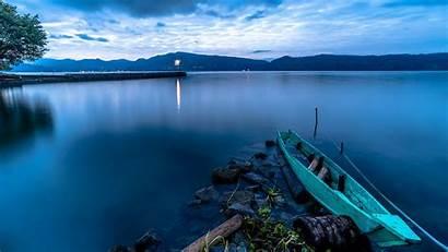 Nature Lake Indonesia Wallpapers Desktop 4k Boat