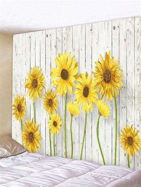 sunflower bedroom ideas wall decor cheap wall