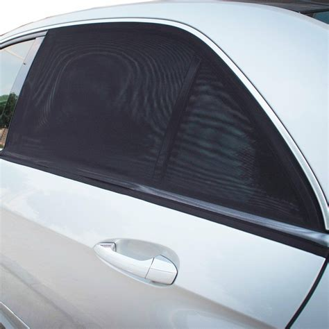 Uk 2x Car Sun Shade Cover Blind Mesh For Rear Side Window