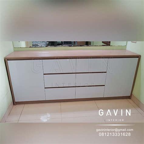 credenza tv minimalis backdrop tv kitchen set jakarta