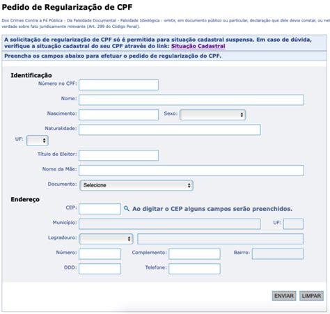 regularizar  cpf pela internet na receita federal