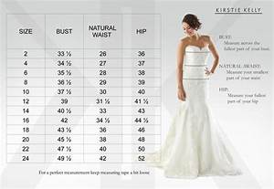 bridal size chart kirstie kelly With wedding dress size chart
