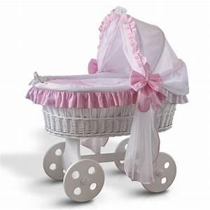 Baby Bettset Mädchen : krone rosa gro er baby stubenwagen bollerwagen babybett ~ Watch28wear.com Haus und Dekorationen