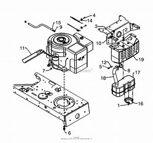 Mtd 13an673g131  2000  Parts Diagram For Muffler  U0026 Engine