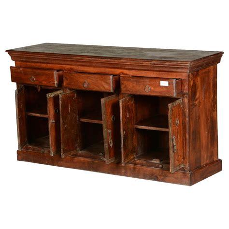 Rustic Sideboards by Rustic Country Reclaimed Wood Freestanding 3 Drawer Sideboard