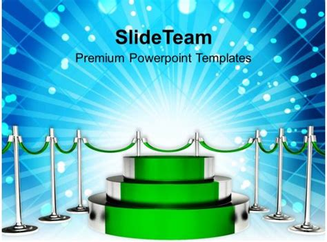 green podium  winner competition powerpoint templates
