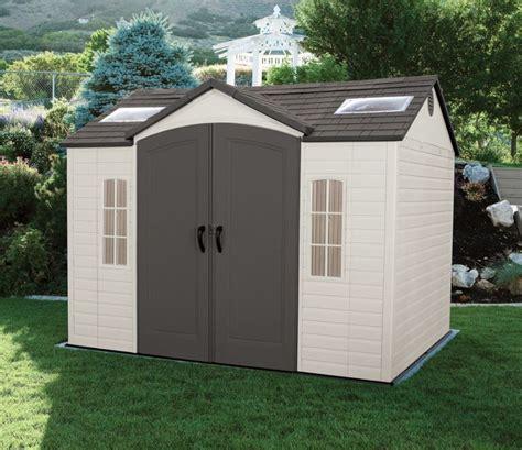 big plastic sheds large plastic sheds lifetime 10 215 8 ft shed weather