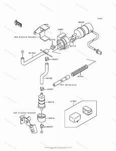 Kawasaki Motorcycle 1993 Oem Parts Diagram For Fuel Pump