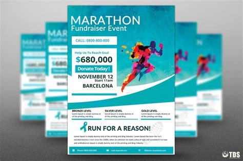 fundraiser flyer template free marathon fundraiser photoshop flyer template flyershitter