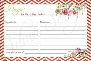 Free Printable Christmas Recipe Card Template