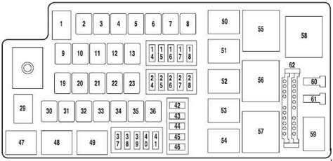 2007 Ford Fuse Box Diagram by Ford Five Hundred 2004 2007 Fuse Box Diagram Auto