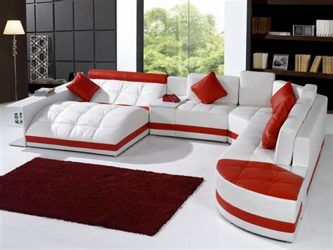 red and white sofa 5012 modern white and red leather sectional sofa