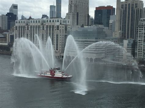 Nyc Fireboat Firefighter by New York City Department Fdny