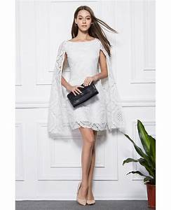 fashionale a line white lace short wedding party dress With short dress for wedding party