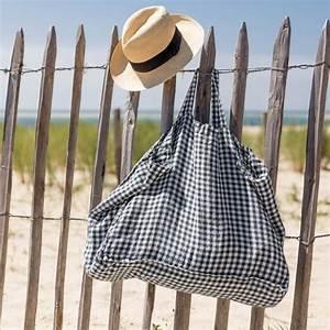 Lave Linge Petit Format : grand sac cabas en lin lav vichy anthracite linge ~ Nature-et-papiers.com Idées de Décoration