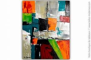 Tableau Moderne Coloré : tableau multicolore moderne un royaume color ~ Teatrodelosmanantiales.com Idées de Décoration