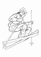 Coloring Pages Sports Skiing Adults Kidspressmagazine Adult Skier Books Printable Activities Elegant Hockey Soccer sketch template