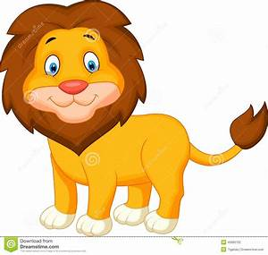 Cute baby lion cartoon - Vector illustration of clipart