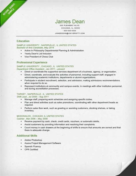 Great Chronological Resume by Student Chronological Resume Sle Resume