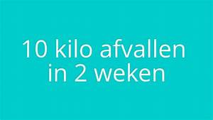 5 kilo in 1 week afvallen