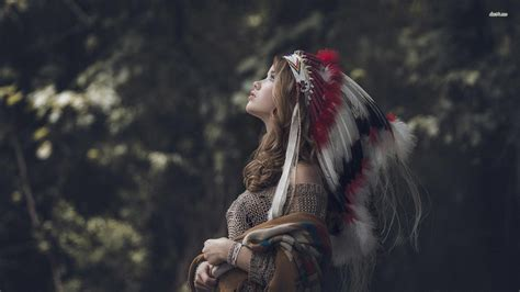 Native American Headdress Girls Wallpapers Wallpaper Cave