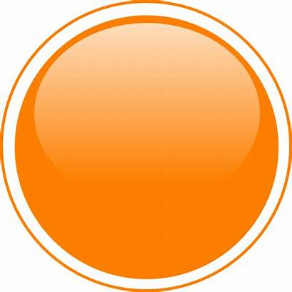 Circle Orange Button Glossy Clipart Clip Vector