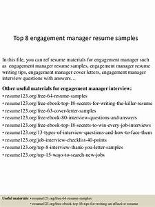 top 8 engagement manager resume samples With employee engagement manager resume