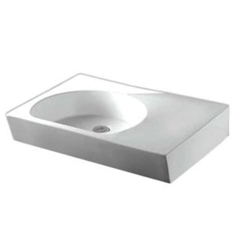 whitehaus collection isabella wall mounted bathroom sink