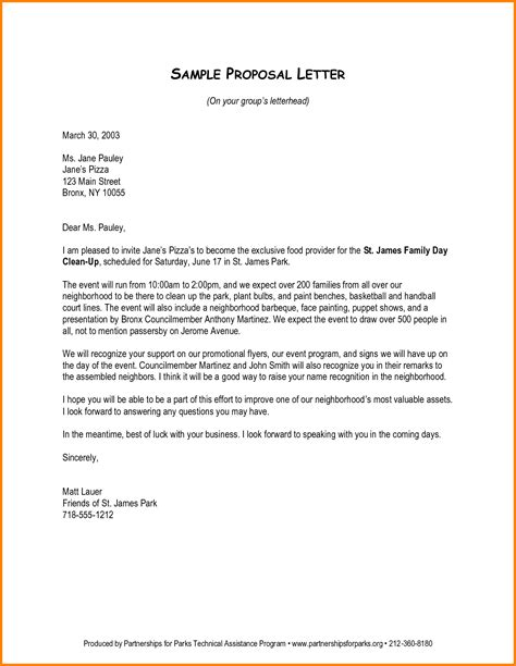 tips  write  business proposal letter   pro