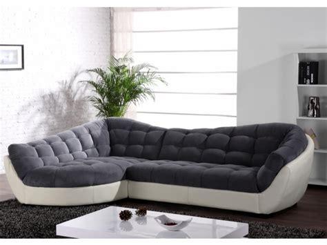Canapé en angle arrondi