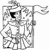 Coloring Pilgrims Pilgrim Thanksgiving Pages sketch template