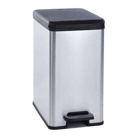 poubelle cuisine curver poubelle slim 25 l argent 217635 achat vente