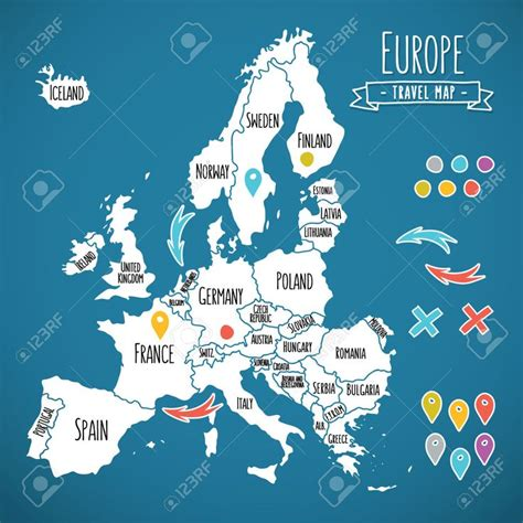 hand drawn europe map google search infographic