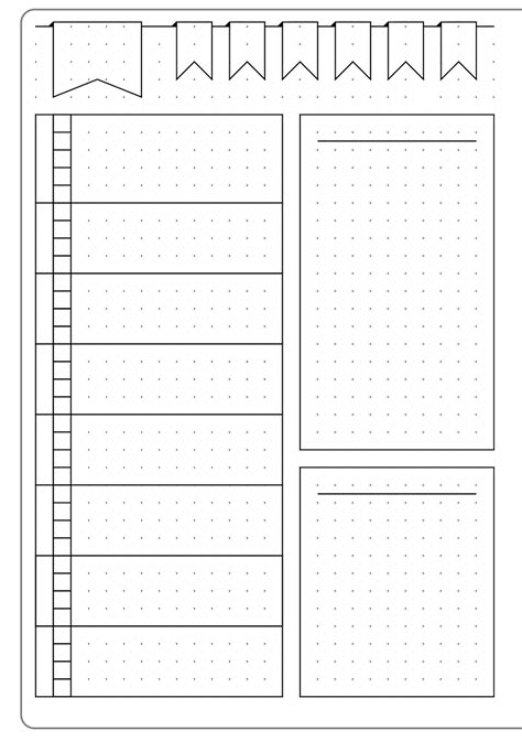 simple weekly layout template kate louise bullet journal bullet