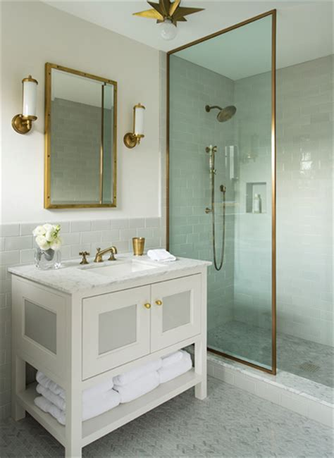 brass shower partition contemporary bathroom nina