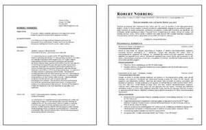 Telecom Technician Resume Sles by Telecommunications Resume Exle