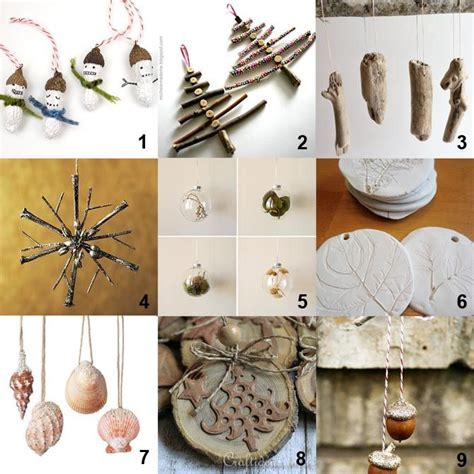 diy natural christmas tree ornaments winter craft ideas
