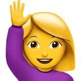 person som raecker upp handen emoji betydelse