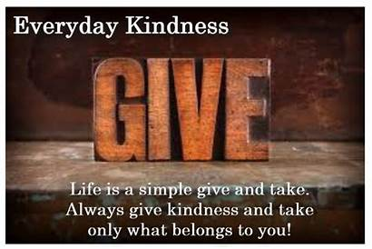 Give Kindness Without Giving Freely Everyday September